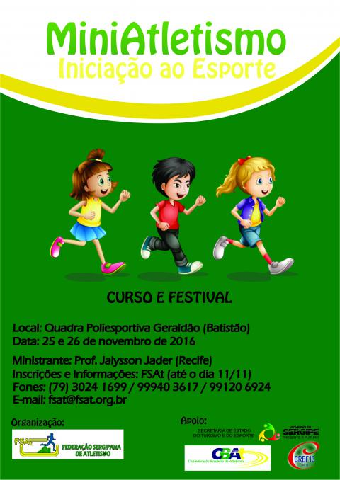 Curso e Clinica de Mini Atletismo (CANCELADO)